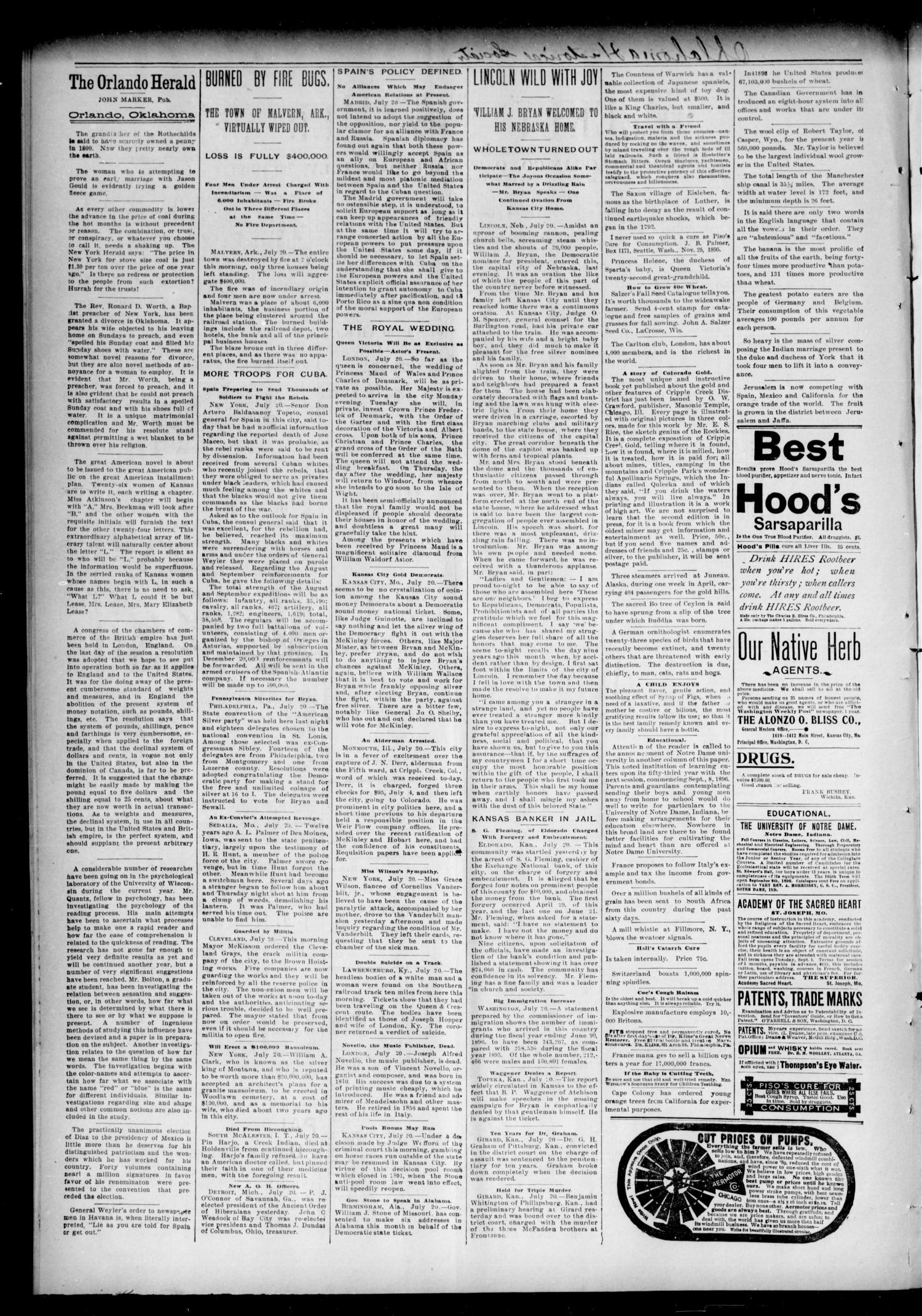 Weekly Orlando Herald. (Orlando, Okla. Terr.), Vol. 5, No. 6, Ed. 1 Thursday, July 23, 1896                                                                                                      [Sequence #]: 2 of 4