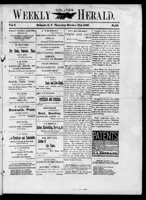 Primary view of object titled 'Weekly Orlando Herald. (Orlando, Okla. Terr.), Vol. 6, No. 19, Ed. 1 Thursday, October 21, 1897'.