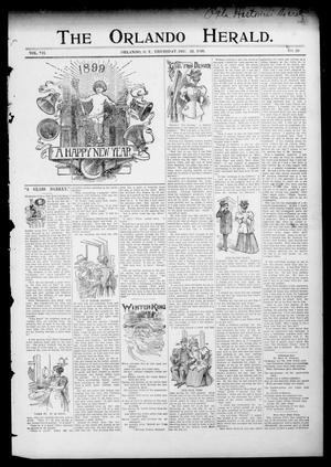 Primary view of object titled 'The Orlando Herald. (Orlando, Okla. Terr.), Vol. 7, No. 29, Ed. 1 Thursday, December 29, 1898'.