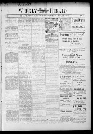 Primary view of object titled 'Weekly Orlando Herald. (Orlando, Okla. Terr.), Vol. 4, No. 41, Ed. 1 Thursday, March 19, 1896'.