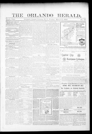 Primary view of object titled 'The Orlando Herald. (Orlando, Okla. Terr.), Vol. 8, No. 40, Ed. 1 Friday, March 9, 1900'.