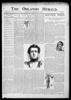 Primary view of object titled 'The Orlando Herald. (Orlando, Okla. Terr.), Vol. 7, No. 25, Ed. 1 Thursday, December 1, 1898'.