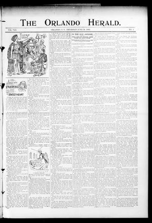 Primary view of object titled 'The Orlando Herald. (Orlando, Okla. Terr.), Vol. 8, No. 4, Ed. 1 Thursday, June 29, 1899'.
