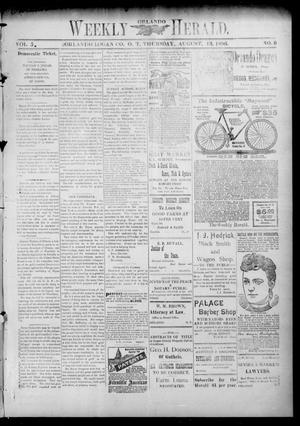 Primary view of object titled 'Weekly Orlando Herald. (Orlando, Okla. Terr.), Vol. 5, No. 9, Ed. 1 Thursday, August 13, 1896'.