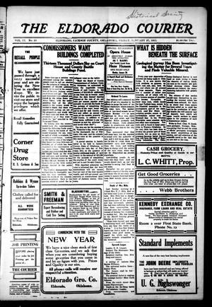 Primary view of The Eldorado Courier (Eldorado, Okla.), Vol. 9, No. 29, Ed. 1 Friday, January 27, 1911