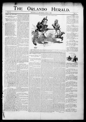 Primary view of object titled 'The Orlando Herald. (Orlando, Okla. Terr.), Vol. 6, No. 43, Ed. 1 Thursday, April 7, 1898'.
