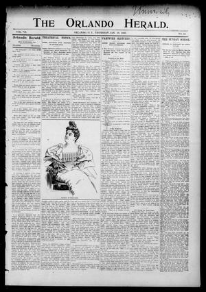 Primary view of object titled 'The Orlando Herald. (Orlando, Okla. Terr.), Vol. 7, No. 32, Ed. 1 Thursday, January 19, 1899'.