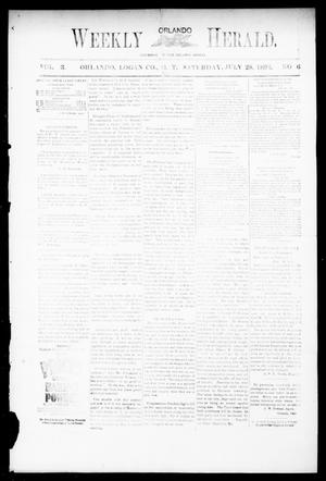 Primary view of object titled 'Weekly Orlando Herald. (Orlando, Okla. Terr.), Vol. 3, No. 6, Ed. 1 Saturday, July 28, 1894'.