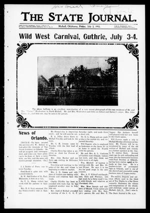 Primary view of object titled 'The State Journal. (Mulhall, Okla.), Vol. 1, No. 29, Ed. 1 Friday, July 3, 1903'.