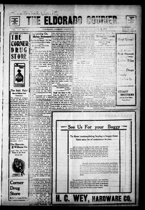 Primary view of The Eldorado Courier. (Eldorado, Okla.), Vol. 8, No. 38, Ed. 1 Friday, April 1, 1910
