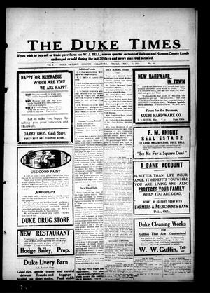 Primary view of object titled 'The Duke Times (Duke, Okla.), Vol. 5, No. 49, Ed. 1 Friday, May 9, 1913'.