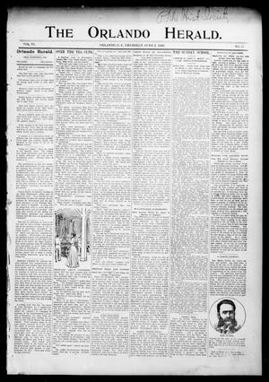 Primary view of object titled 'The Orlando Herald. (Orlando, Okla. Terr.), Vol. 6, No. 51, Ed. 1 Thursday, June 2, 1898'.