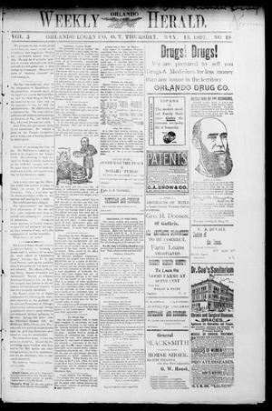 Primary view of object titled 'Weekly Orlando Herald. (Orlando, Okla. Terr.), Vol. 5, No. 48, Ed. 1 Thursday, May 13, 1897'.