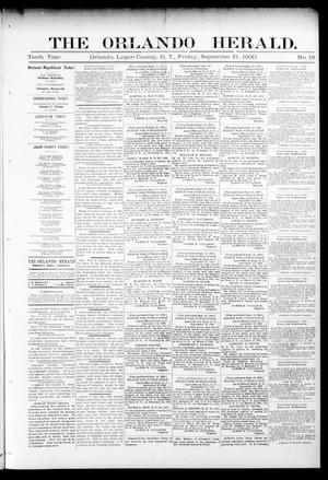 Primary view of object titled 'The Orlando Herald. (Orlando, Okla. Terr.), Vol. 10, No. 16, Ed. 1 Friday, September 21, 1900'.