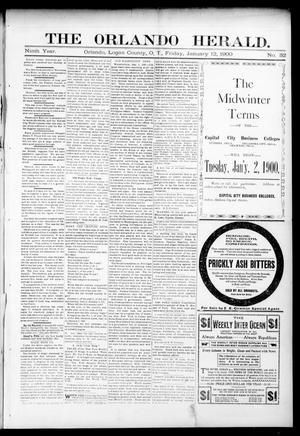 Primary view of object titled 'The Orlando Herald. (Orlando, Okla. Terr.), Vol. 8, No. 32, Ed. 1 Friday, January 12, 1900'.