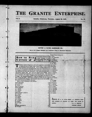 Primary view of object titled 'The Granite Enterprise. (Granite, Okla.), Vol. 3, No. 18, Ed. 1 Thursday, August 28, 1902'.