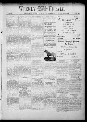 Primary view of object titled 'Weekly Orlando Herald. (Orlando, Okla. Terr.), Vol. 3, No. 48, Ed. 1 Saturday, May 18, 1895'.