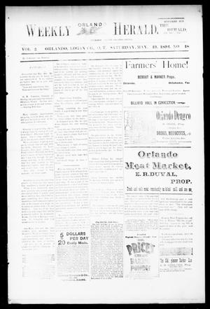 Primary view of object titled 'Weekly Orlando Herald. (Orlando, Okla. Terr.), Vol. 2, No. 48, Ed. 1 Saturday, May 19, 1894'.