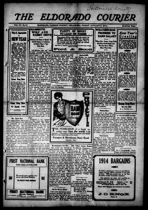 Primary view of The Eldorado Courier (Eldorado, Okla.), Vol. 12, No. 25, Ed. 1 Friday, January 2, 1914