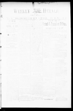 Primary view of object titled 'Weekly Orlando Herald. (Orlando, Okla. Terr.), Vol. 3, No. 19, Ed. 1 Saturday, October 27, 1894'.