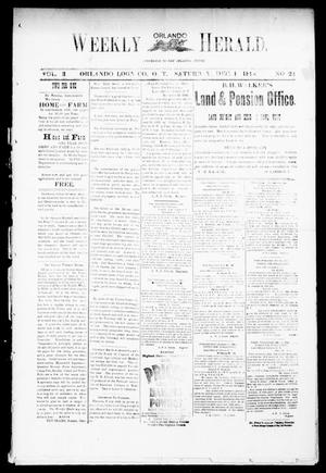 Primary view of object titled 'Weekly Orlando Herald. (Orlando, Okla. Terr.), Vol. 3, No. 24, Ed. 1 Saturday, December 1, 1894'.