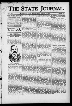 Primary view of object titled 'The State Journal. (Mulhall, Okla.), Vol. 3, No. 10, Ed. 1 Friday, February 17, 1905'.