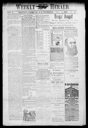 Primary view of object titled 'Weekly Orlando Herald. (Orlando, Okla. Terr.), Vol. 5, No. 47, Ed. 1 Thursday, May 6, 1897'.