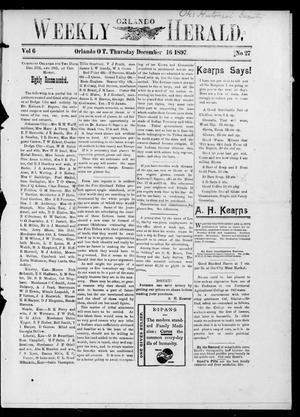 Primary view of object titled 'Weekly Orlando Herald. (Orlando, Okla. Terr.), Vol. 6, No. 27, Ed. 1 Thursday, December 16, 1897'.