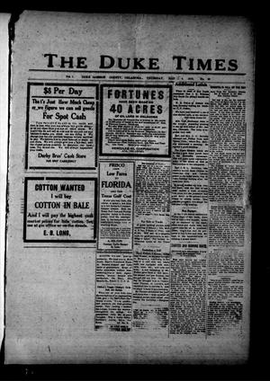 Primary view of object titled 'The Duke Times (Duke, Okla.), Vol. 7, No. 39, Ed. 1 Thursday, March 4, 1915'.