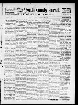 Primary view of object titled 'The Lincoln County Journal. The Stroud Star. (Stroud, Okla.), Vol. 3, No. 43, Ed. 1 Thursday, December 31, 1908'.