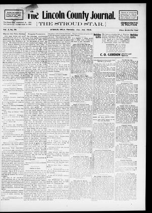 Primary view of object titled 'The Lincoln County Journal. The Stroud Star. (Stroud, Okla.), Vol. 3, No. 39, Ed. 1 Thursday, December 3, 1908'.