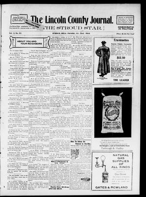 Primary view of object titled 'The Lincoln County Journal. The Stroud Star. (Stroud, Okla.), Vol. 3, No. 33, Ed. 1 Thursday, October 22, 1908'.
