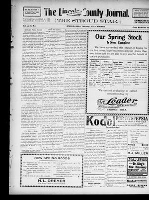 Primary view of object titled 'The Lincoln County Journal. The Stroud Star. (Stroud, Okla.), Vol. 2, No. 52, Ed. 1 Thursday, March 5, 1908'.