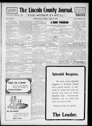 Primary view of object titled 'The Lincoln County Journal. The Stroud Star. (Stroud, Okla.), Vol. 2, No. 23, Ed. 1 Thursday, August 15, 1907'.