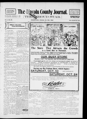 Primary view of object titled 'The Lincoln County Journal. The Stroud Star. (Stroud, Okla.), Vol. 3, No. 32, Ed. 1 Thursday, October 15, 1908'.