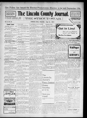 Primary view of object titled 'The Lincoln County Journal. The Stroud Star. (Stroud, Okla.), Vol. 2, No. 21, Ed. 1 Thursday, August 1, 1907'.