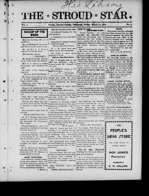 Primary view of object titled 'The Stroud Star. (Stroud, Okla.), Vol. 5, No. 2, Ed. 1 Friday, March 14, 1902'.