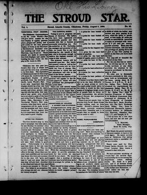 Primary view of object titled 'The Stroud Star. (Stroud, Okla.), Vol. 5, No. 23, Ed. 1 Friday, August 8, 1902'.