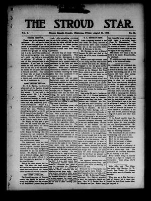 Primary view of object titled 'The Stroud Star. (Stroud, Okla.), Vol. 5, No. 25, Ed. 1 Friday, August 22, 1902'.
