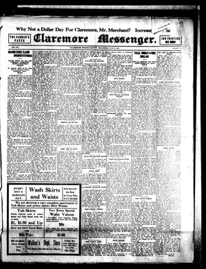 Primary view of object titled 'Claremore Messenger., Vol. 20, No. 27, Ed. 1 Friday, June 25, 1915'.