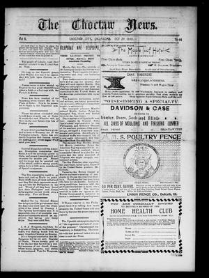 Primary view of The Choctaw News. (Choctaw City, Okla.), Vol. 5, No. 45, Ed. 1 Saturday, October 29, 1898