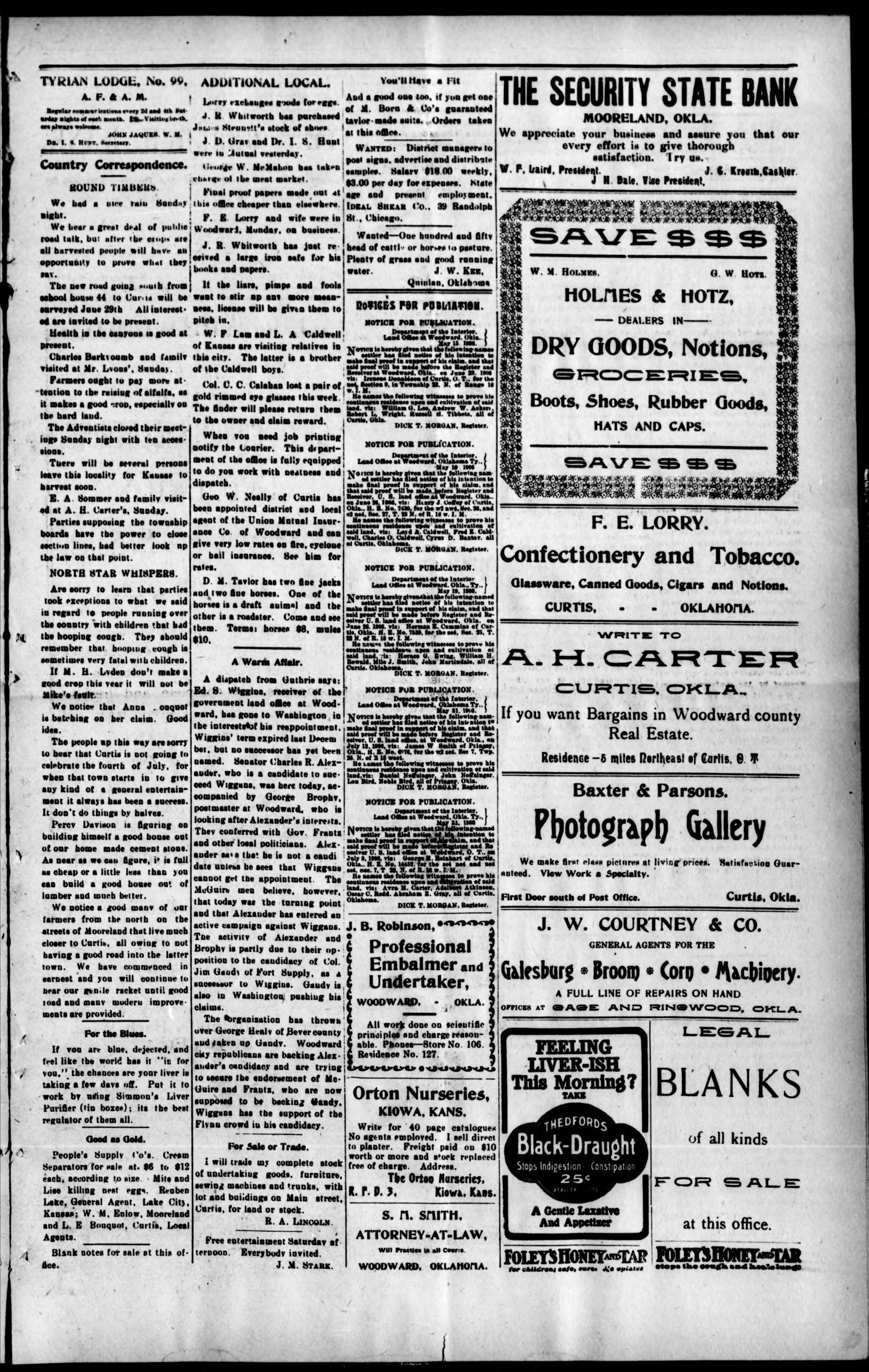 The Curtis Courier Okla Vol 6 No 24 Ed 1 Thursday Moko Exclusive Black Series Bb Cushion X Lip Creme June 7 1906 Page 5 Of 8 Gateway To Oklahoma History
