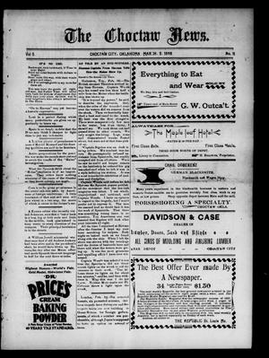 Primary view of object titled 'The Choctaw News. (Choctaw City, Okla.), Vol. 5, No. 11, Ed. 1 Saturday, March 5, 1898'.
