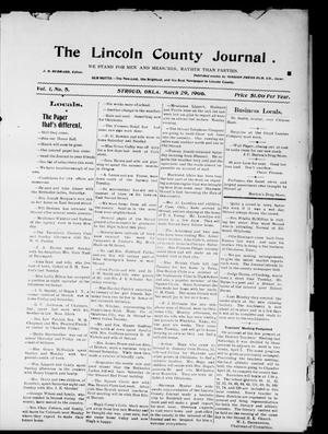 Primary view of object titled 'The Lincoln County Journal. (Stroud, Okla.), Vol. 1, No. 5, Ed. 2 Thursday, March 29, 1906'.