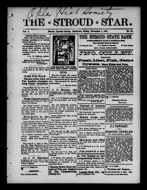 Primary view of object titled 'The Stroud Star. (Stroud, Okla.), Vol. 4, No. 35, Ed. 1 Friday, November 1, 1901'.