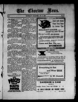 Primary view of object titled 'The Choctaw News. (Choctaw City, Okla.), Vol. 4, No. 51, Ed. 1 Saturday, December 11, 1897'.