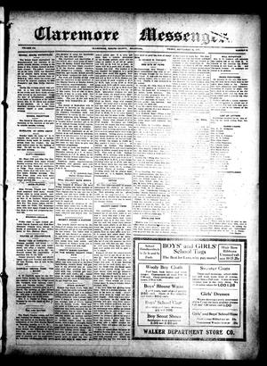 Primary view of Claremore Messenger., Vol. 20, No. 38, Ed. 1 Friday, September 10, 1915