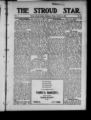 Primary view of object titled 'The Stroud Star. (Stroud, Okla.), Vol. 5, No. 34, Ed. 1 Friday, October 24, 1902'.