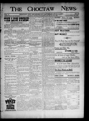 Primary view of object titled 'The Choctaw News. (Choctaw City, Okla. Terr.), Vol. 4, No. 28, Ed. 1 Saturday, July 3, 1897'.