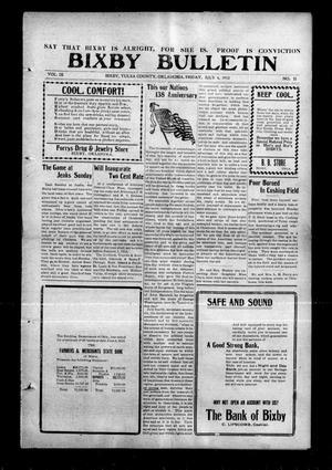 Primary view of Bixby Bulletin (Bixby, Okla.), Vol. 9, No. 22, Ed. 1 Friday, July 4, 1913